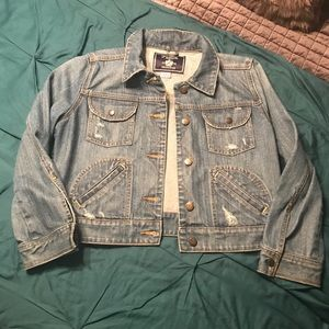 EUC Victoria Secret PINK Denim Jacket Large